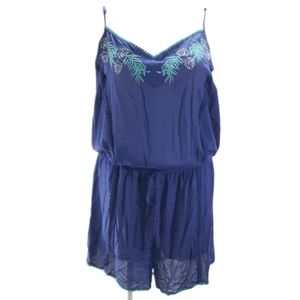 [Joe Browns] Size 24 Embroidered Plants Playsuit